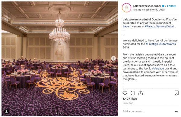 Palazzo Versace Dubai, Gala Dinner, PVSMW 2019, Prestigious Venues