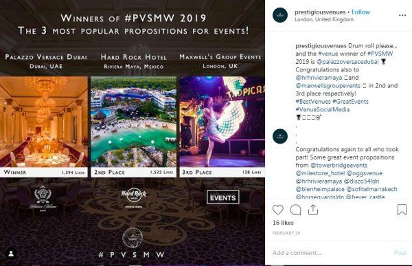 Propositions for Events, PVSMW 2019, Prestigious Venues