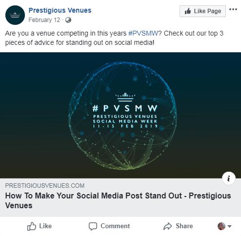 Stand Out, PVSMW 2019, Prestigious Venues