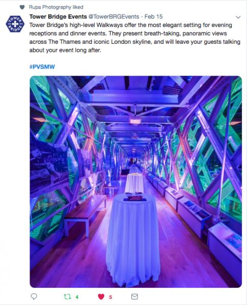 Tower Bridge, PVSMW 2019, Prestigious Venues