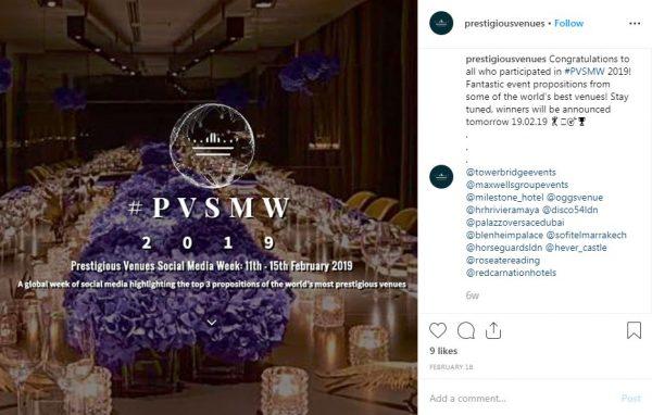 Winners 2019, PVSMW 2019, Prestigious Venues