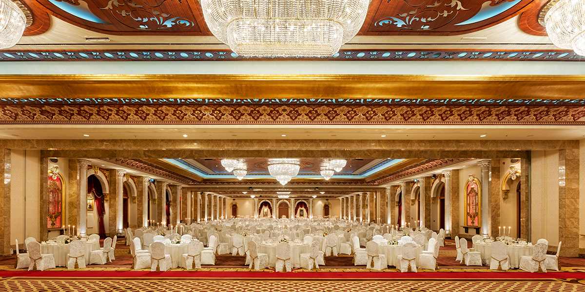 The Beylerbeyi Ballroom at Titanic Mardan Palace