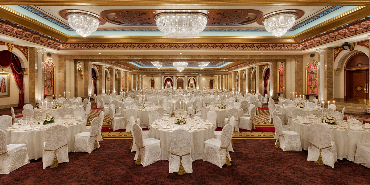 Wedding Venue in Turkey, Dolmabahce Ballroom, Titanic Mardan Palace, Prestigious Venues