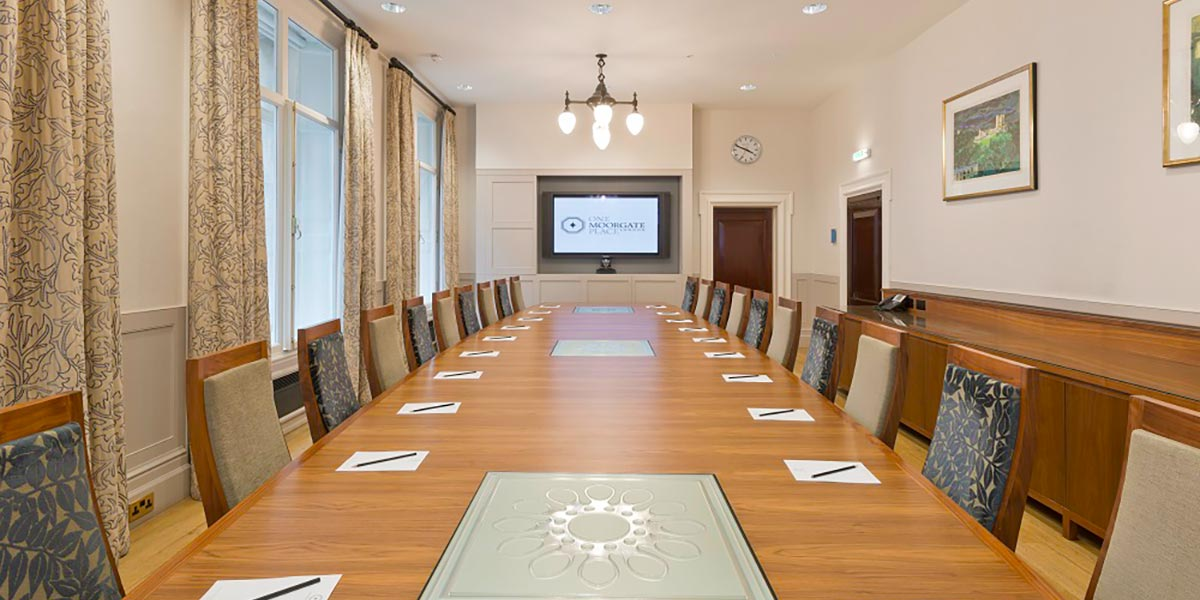 Boardroom at One Moorgate Place