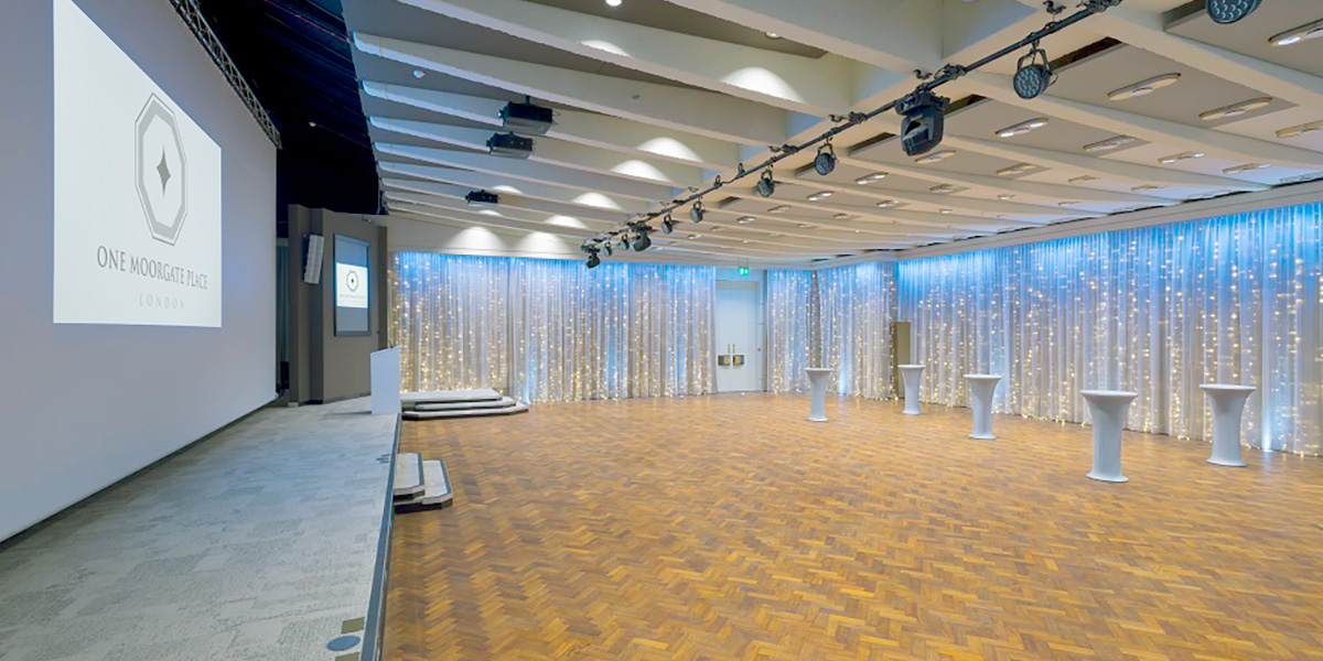 Large Reception Venue, One Moorgate Place, Prestigious Venues