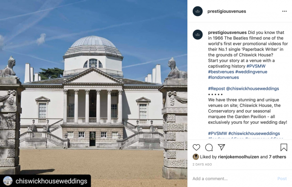 Chiswick House, London Wedding Venue, PVSMW 2020, Prestigious Venues