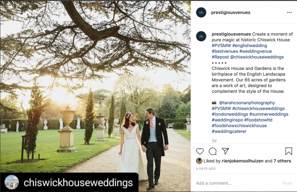 Chiswick House, Outdoor Wedding Venue, PVSMW 2020, Prestigious Venues
