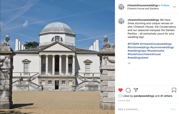 Chiswick House, Wedding Venue, PVSMW 2020, Prestigious Venues
