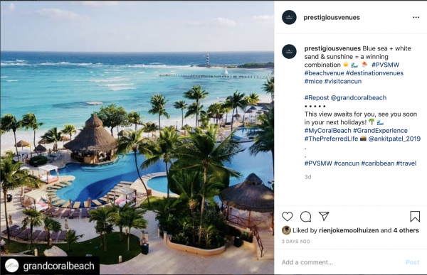 Grand Coral Beach PVSMW 2020, Prestigious Venues