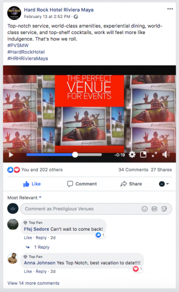 Hard Rock Hotel Riviera Maya, Beach Venue, PVSMW 2020, Prestigious Venues