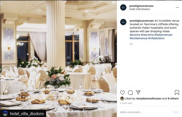 Hotel Villa Diodoro, Ballroom, PVSMW 2020, Prestigious Venues