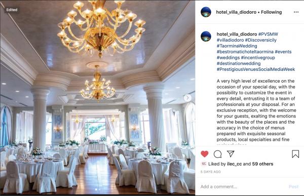 Hotel Villa Diodoro, PVSMW 2020, Prestigious Venues