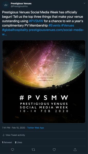 Launch, PVSMW 2020, Prestigious Venues