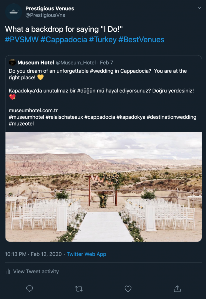 Museum Hotel, Wedding Venue, PVSMW 2020, Prestigious Venues