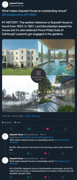 Sopwell House, PVSMW 2020, Prestigious Venues
