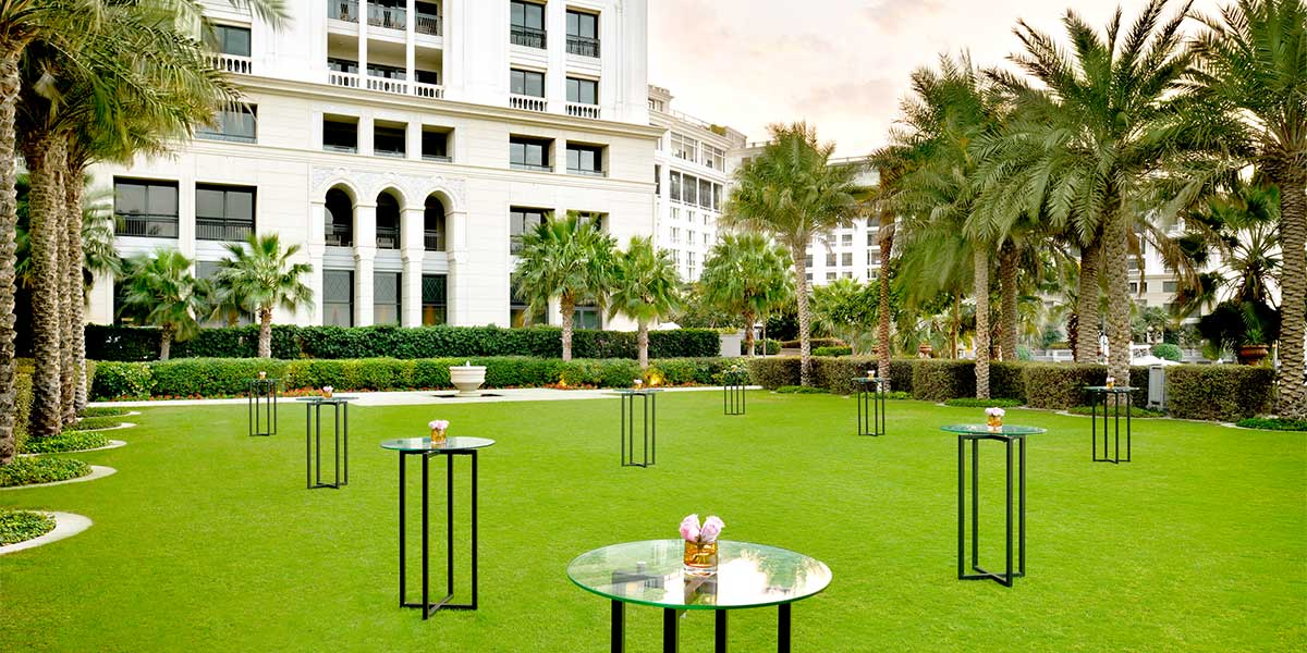 Outdoor Reception Venue in Dubai, Palazzo Versace Dubai, Prestigious Venues