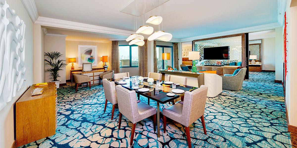 Regal Suite Living Room, Atlantis The Palm, Prestigious Venues