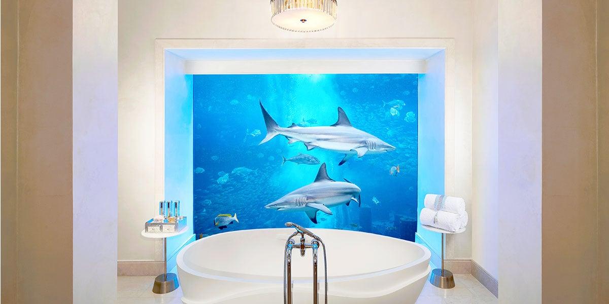 Underwater Suite Bathroom, Atlantis The Palm, Prestigious Venues