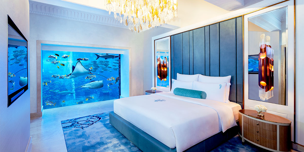 Underwater Suite Bedroom, Atlantis The Palm, Prestigious Venues