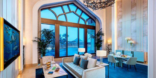 Underwater Suite Living Room, Atlantis The Palm, Prestigious Venues