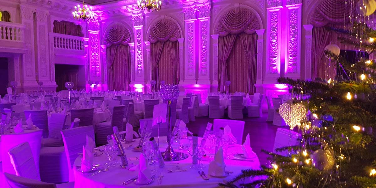 Christmas Party Setup, The Grand Hotel Eastbourne, Prestigious Venues