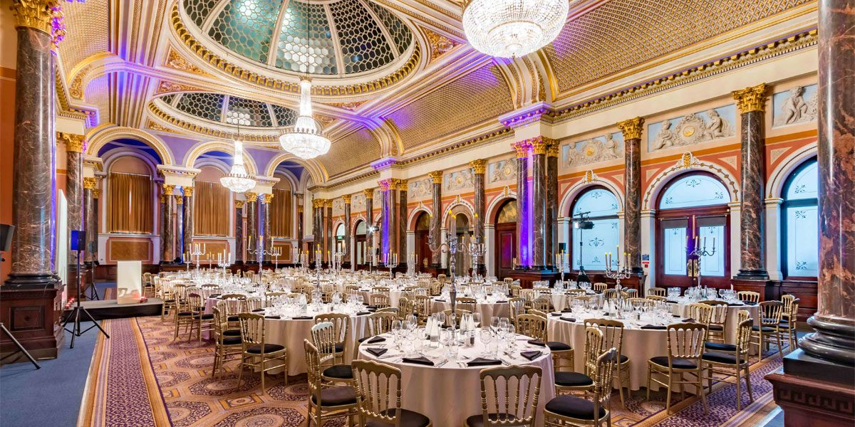 Charity Event Venues, Gala Dinner Venues, Gala Dinner Venue In London, Gibson Hall, Prestigious Venues