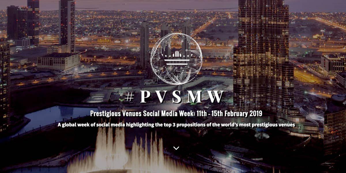 #PVSMW, Prestigious Venues Social Media Week 2019