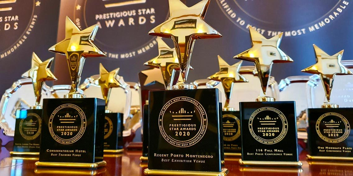 Prestigious Star Awards 2020 Trophies, Global Venue Awards Program, Prestigious Venues