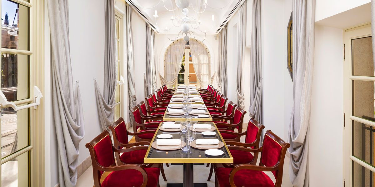 Private Dinner Space, Gran Melia Rome Villa Agrippina, Prestigious Venues