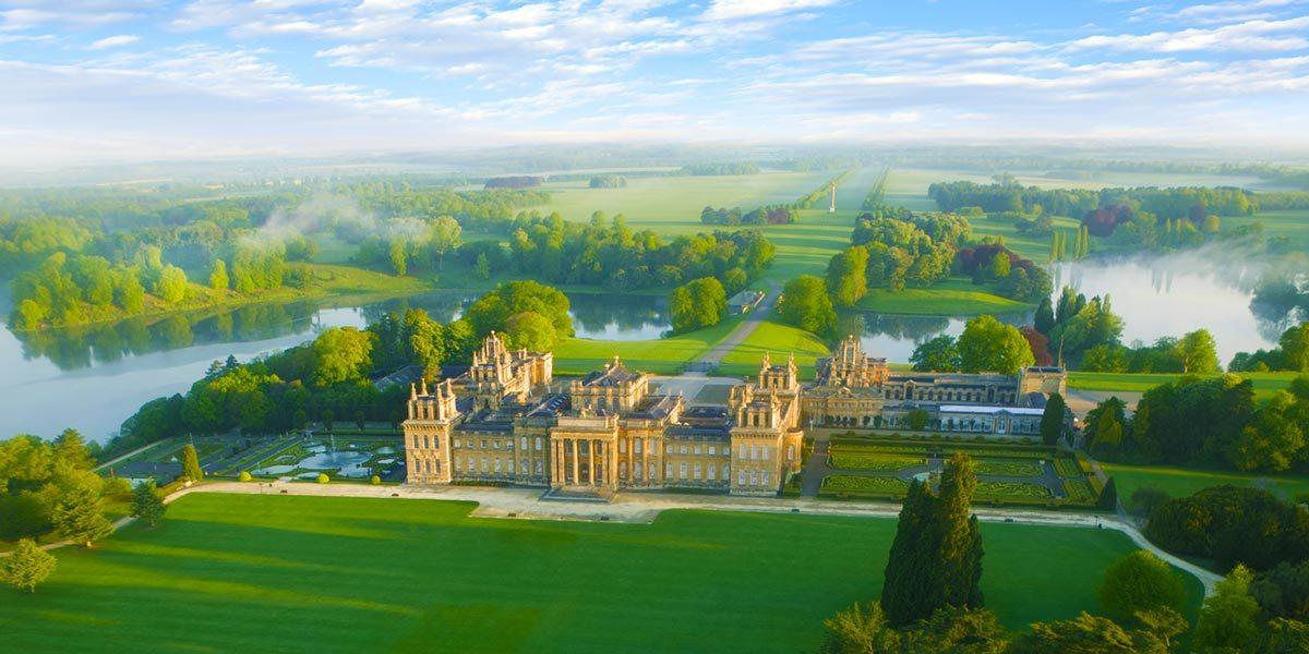 South Lawn aerial, Blenheim Palace, Prestigious Venues