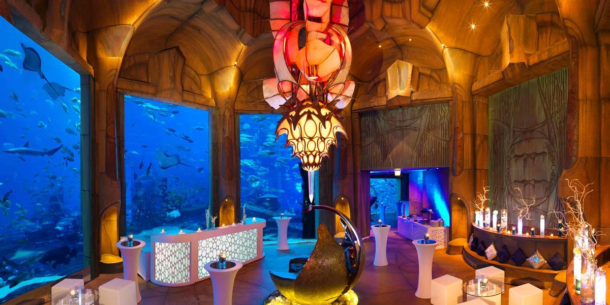 Celebration Venue, The Lost Chambers Aquarium Reception Venue, Atlantis The Palm, Prestigious Venues