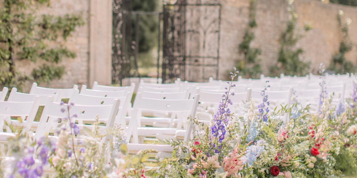 Walled Garden Wedding Ceremony, Lucknam Park Hotel & Spa
